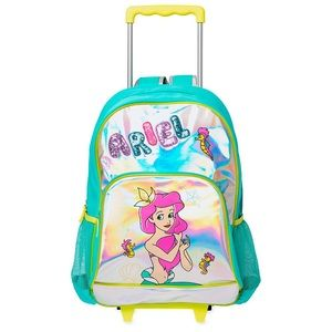 Disney Ariel little mermaid rolling backpack NWT